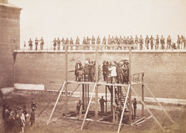 Hanging of Lincoln conspirators