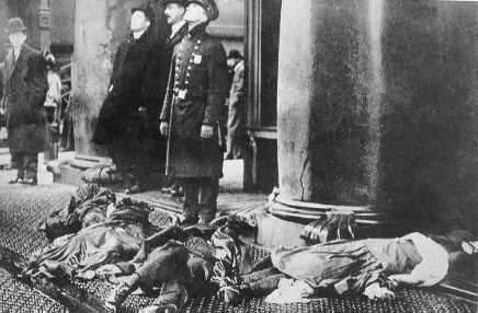 Bodies of victims who jumped to there deaths.