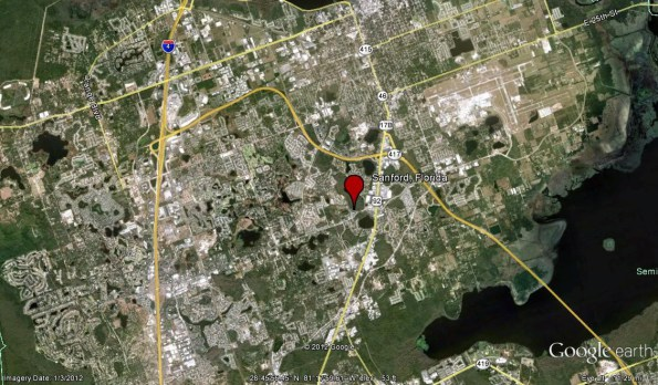 Maps Relating To The George Zimmerman Quot Trayvon Martin Quot Case